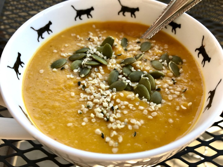 Curried Sweet Potato and Parsnip Soup (vegan, paleo,whole30)